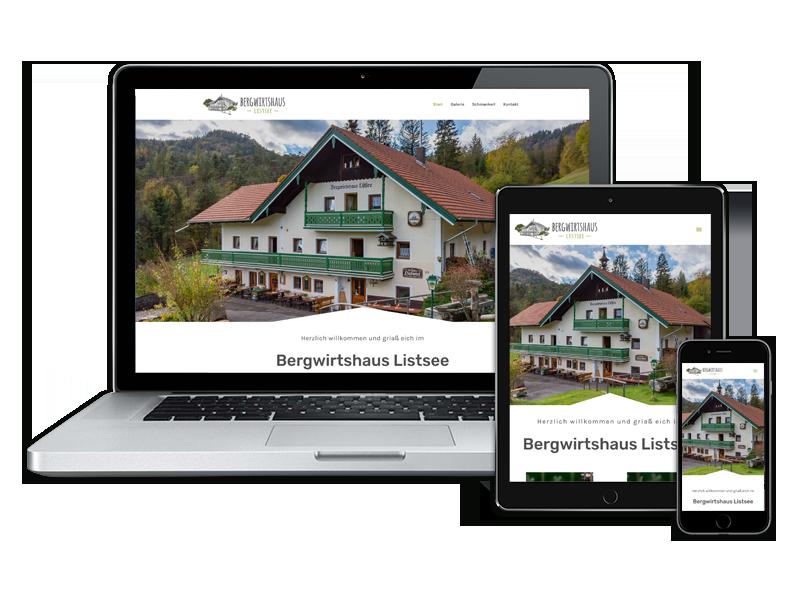 Website Bergwirtshaus Listsee